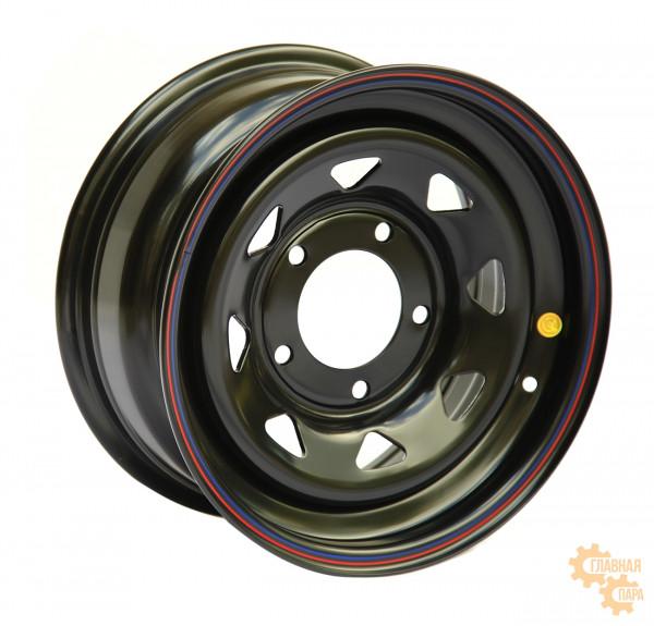 Диск усиленный УАЗ стальной черный 5x139,7 7xR16 d110 ET+15 (треугольник мелкий)