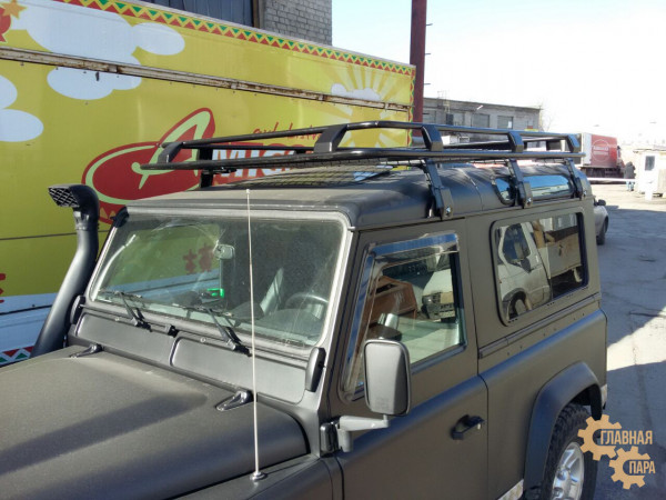 Багажник экспедиционный ЕВРОДЕТАЛЬ для Land Rover Defender 90 c cеткой