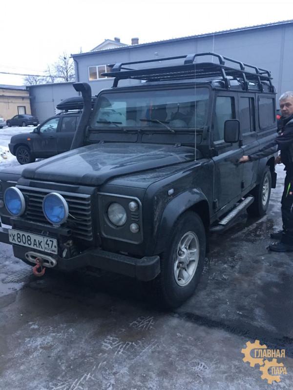 Багажник экспедиционный ЕВРОДЕТАЛЬ для Land Rover Defender 110 c cеткой