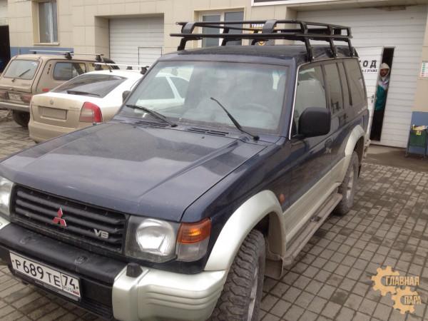Багажник экспедиционный ЕВРОДЕТАЛЬ для Mitsubishi Pajero 2 с сеткой