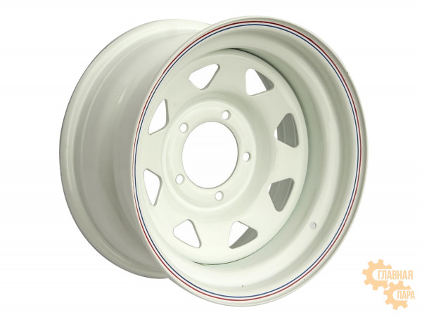 Диск усиленный УАЗ стальной белый 5x139,7 7xR15 d110 ET0 (треугольник мелкий)