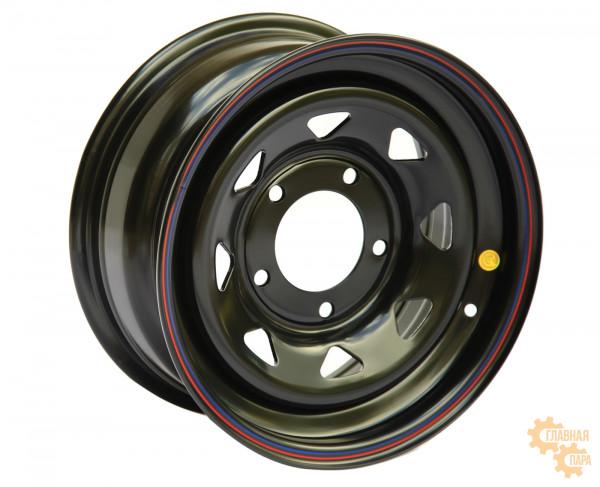 Диск усиленный УАЗ стальной черный 5x139,7 7xR15 d110 ET0 (треугольник мелкий)