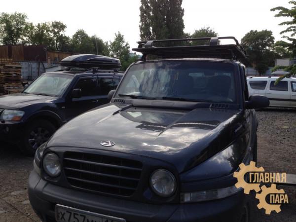 Багажник экспедиционный ЕВРОДЕТАЛЬ для Тагаз Тагер с сеткой