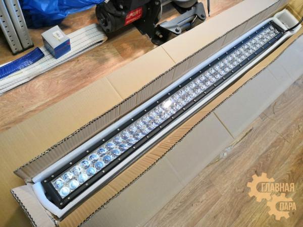 Двухрядная LED балка сверх-дальнего света CH028 мощность 36-300W длина 26-138см светодиоды 3W линзы 5D