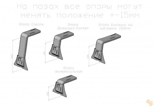 Багажник УАЗ Буханка 1350x1400