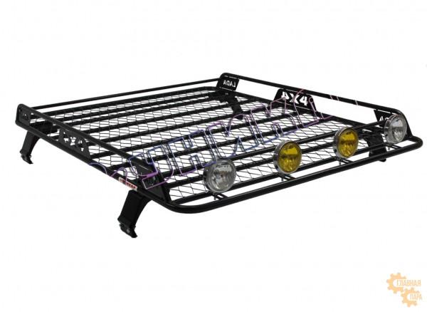 Багажник УНИКАР сварной с сеткой и боковым ограждением для ВАЗ 2121 Нива