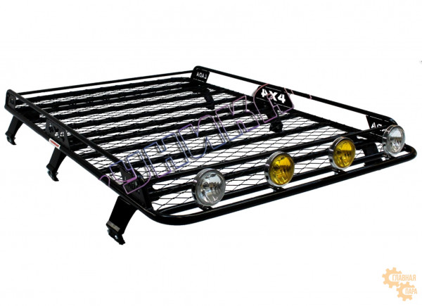 Багажник УНИКАР сварной с сеткой и боковым ограждением на 6-ти опорах для ВАЗ 2131 Нива