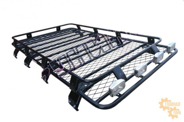 Багажник экспедиционный для Toyota Land Cruiser 80 сварной с сеткой
