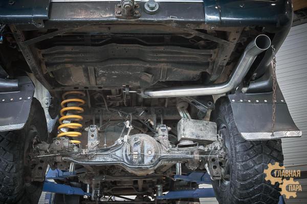 Выхлопная система (кетбек) Toyota Land Cruiser 80