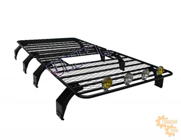 Багажник площадка УНИКАР для ГАЗ-2752 Соболь/Газель (1500х1500х130мм 2шт) с сеткой