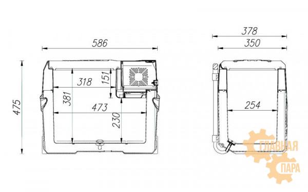 Компрессорный автохолодильник ALPICOOL CX-40 л, 12/24/220В (мобильная версия с колесами и телескопической ручкой)
