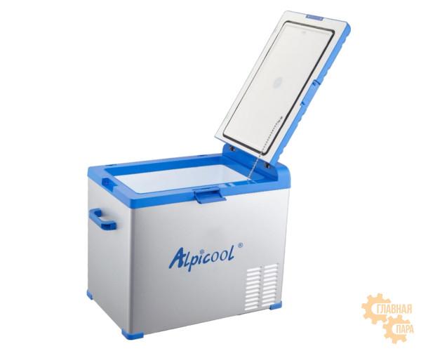 Kомпрессорный автохолодильник ALPICOOL А-50 л, 12/24/220В (крышка на защелке)