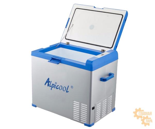 Компрессорный автохолодильник ALPICOOL А-50 л, 12/24/220В (крышка на защелке)