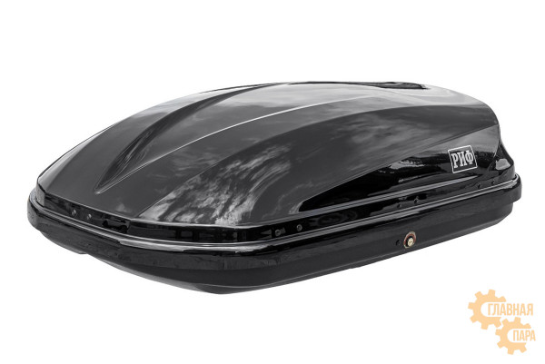 Бокс на крышу РИФ Туризм-М 360 л черный глянец, двусторонний