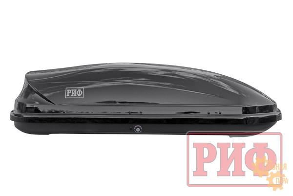 Бокс на крышу РИФ Туризм-М 450 л черный глянец, двусторонний