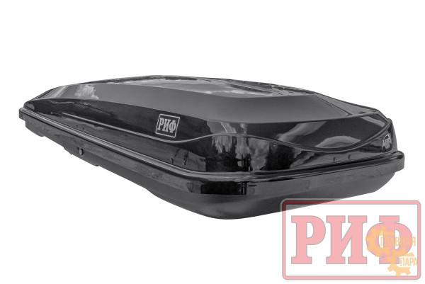 Бокс на крышу РИФ Курорт 520 л черный глянец, двусторонний