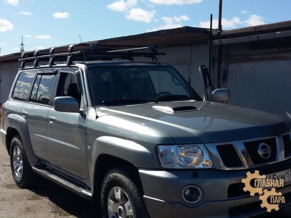 Багажник экспедиционный Nissan Patrol (Y60, Y61) с сеткой
