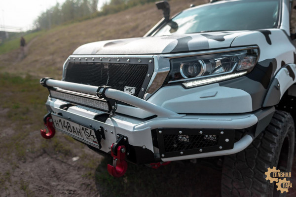 Бампер силовой передний BMS ALFA для Тойота Прадо 150 2018-2021