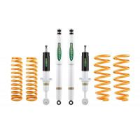 Комплект подвески Ironman для Nissan Pathfinder R51 (V6 дизель) нагрузка перед до 110 кг зад от 250+ кг лифт 35-40 мм (масло)