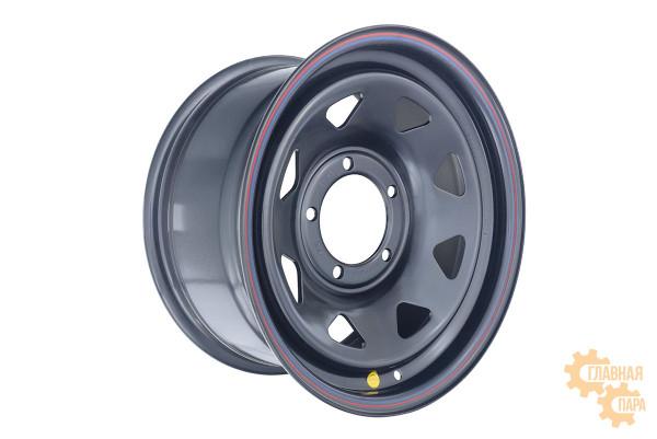 Диск усиленный УАЗ стальной черный 5x139,7 8xR16 d110 ET+15 (треугольник мелкий) Х