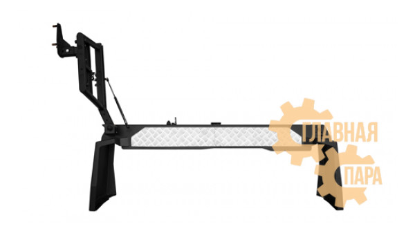 Задний силовой бампер OJ 03.119.02 для Nissan Patrol Y61 2004+ с калиткой и квадратом под фаркоп