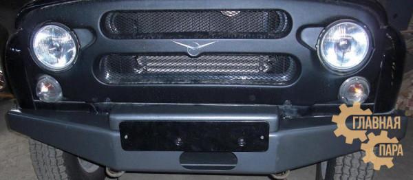 Бампер передний силовой УАЗ (469, 3151) под рессорную подвеску