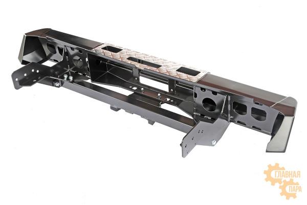 Бампер задний силовой РИФ RIFTMQ-20135 на Mitsubishi L200 2015+ с площадкой под лебёдку, квадратом под фаркоп и фонарями