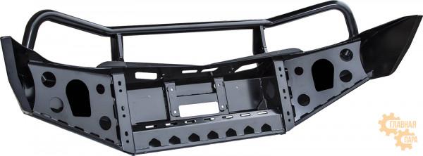 Бампер передний силовой РИФ RIFTRT-10300 на Mitsubishi L200 2005-2015  и Pajero Sport 2 2009+ с кенгурином