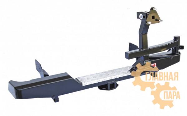 Бампер задний силовой РИФ RIFTRT-20120 на Mitsubishi L200 2005-2015 с фаркопом и калиткой