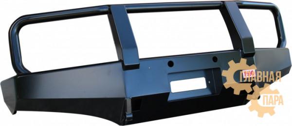 Бампер передний силовой РИФ RIFD40-10300 на Nissan Navara D40 и Pathfinder R51 до 2009 с защитной дугой