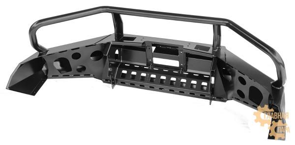 Бампер передний силовой РИФ RIFREV-10300 на Toyota Hilux 2015+ с защитной дугой