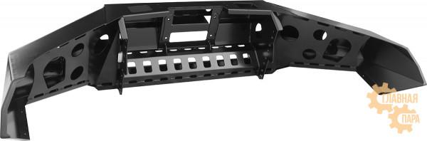 Бампер передний силовой РИФ RIFREV-10356 на Toyota Hilux 2015+ с фарами