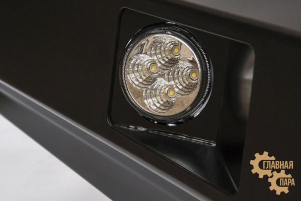Бампер передний силовой РИФ RIFVIG-10350 на Toyota Hilux 2011-2015 с фарами и защитной дугой