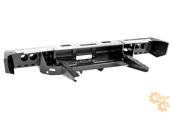 Бампер задний силовой РИФ RIFGAZ-20135 на ГАЗ Соболь с площ. под лебёдку, квадратом под фаркоп и фонарями