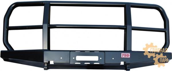 Бампер передний силовой РИФ RIF452-10600 на УАЗ Буханка с кенгурином, облегченный