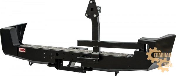 Бампер силовой задний РИФ для УАЗ Патриот 2005-2014 с площадкой под лебедку и калиткой стандарт