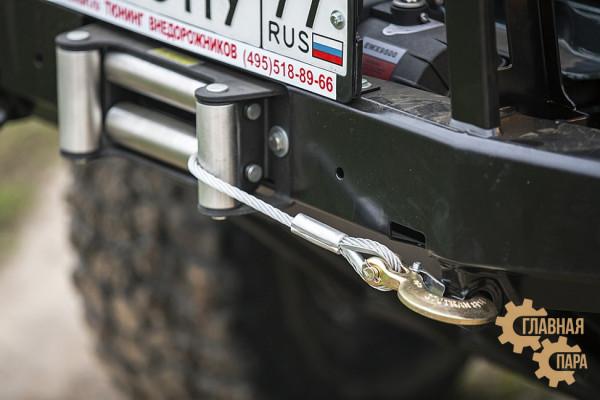Бампер силовой передний РИФ для УАЗ Хантер с защитной дугой, облегчённый