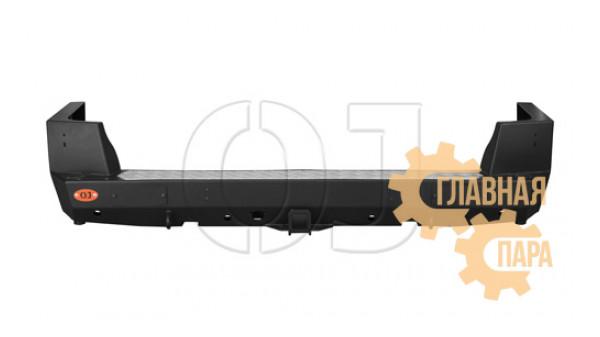 Бампер задний силовой OJ 03.110.10 с квадратом под фаркоп для УАЗ Патриот в т.ч. рестайлинг 2014-