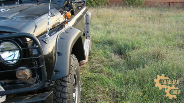 Расширители колёсных арок lapter на УАЗ Хантер