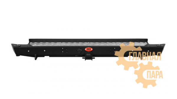 Задний силовой бампер OJ 03.418.01 для УАЗ Патриот Пикап с квадратом под фаркоп