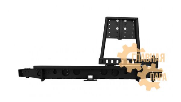 Задний силовой бампер OJ 03.418.02 для УАЗ Пикап с калиткой и квадратом под фаркоп