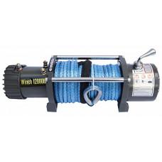 Автомобильная электрическая лебедка CM Winch CM12000S 12V 5450 кг. с синтетическим тросом