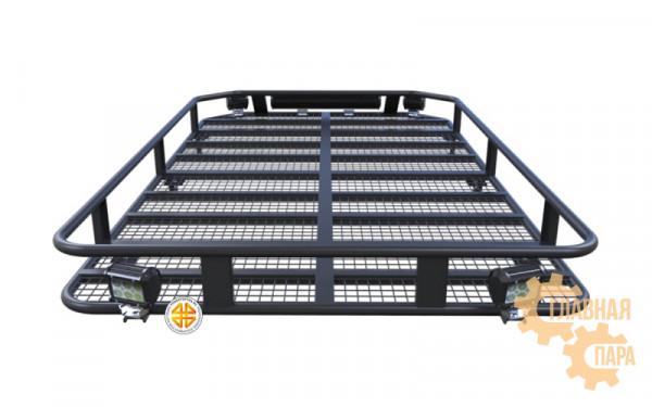 Багажник экспедиционный Б87.03 на GW Hover 3 1900х1100х120 с сеткой и креплениями на крышу