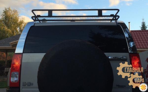 Багажник экспедиционный Б107.03 на HUMMER H3 (2450x1300х120мм) с креплениями на штатные поперечины