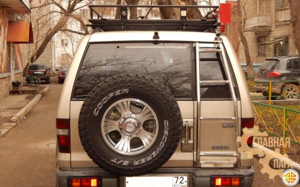 Багажник экспедиционный Б113.05 на ISUZU Trooper 2001 (1900х1200х120мм) с сеткой и креплениями