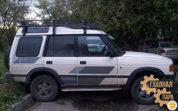 Багажник экспедиционный Б28.03 на Land Rover Discovery II (2150х1450x120мм) с сеткой