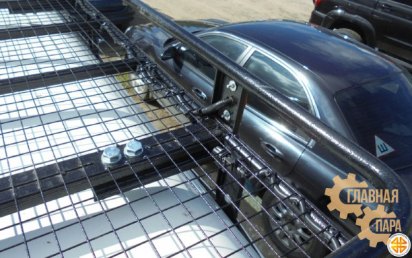 Багажник экспедиционный Б121.03 на Mitsubishi Delica PD6W (2100х1200х120мм) с сеткой