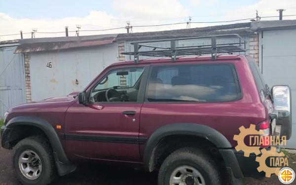 Багажник экспедиционный Б29.03 на Nissan Patrol Y60/Y61 3 дверный (1600х1200х120мм) с сеткой