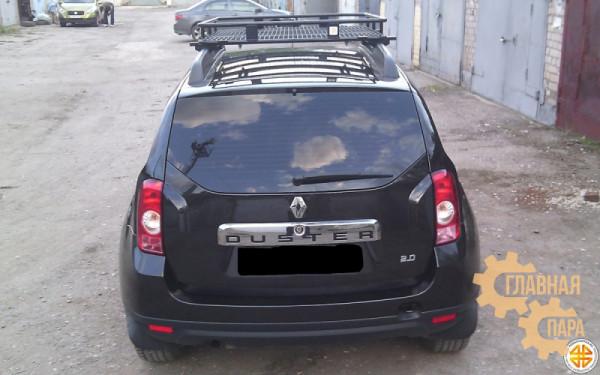 Багажник экспедиционный Б92.05 на Renault Duster (1600х1200х120мм) с сеткой и креплениями на рейлинги