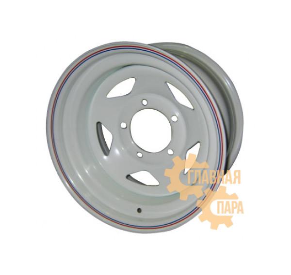 Диск усиленный УАЗ стальной белый 5x139,7 8xR15 d110 ET-19 (треугольник)